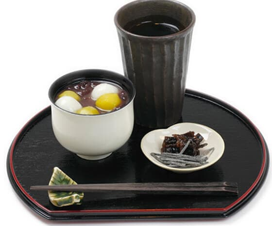 白玉栗ぜんざい (煎茶付き)